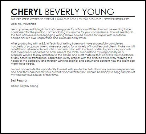 writer cover letter sle livecareer