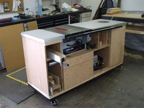 table saw workbench woodworking plans table saw surround woodworking talk woodworkers forum