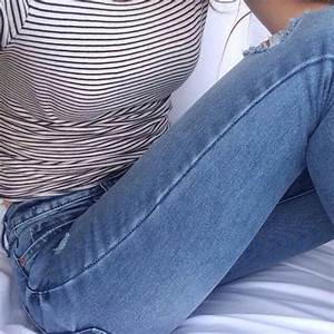 Jeans: shirt, black and white, stripes, stripes, striped ...