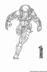 Predator Coloring Ink Drawing Runs Comics Alien Draw Deviantart Colouring Wolf Dibujos Comic Fan Artwork Cartoons Helmet Deviant Guardado Desde sketch template