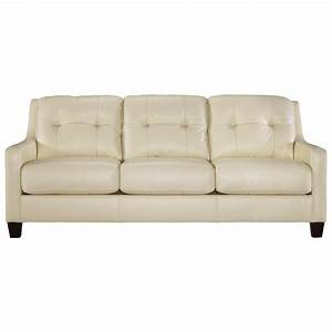 Contemporary leather match queen sofa sleeper by signature for Ashley sleeper sofa