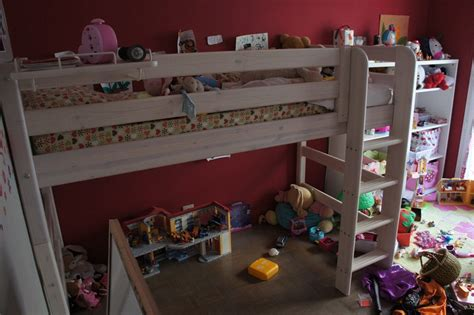 chambre en bordel lit mezzanine enfant 7 ans flexa e zabel maman