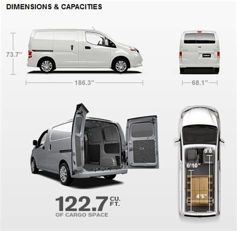nissan nv2500 dimensions nissan nv200 cargo specifications reefertek usa