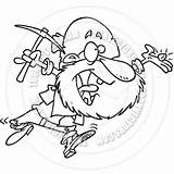 Prospector Cartoon Coloring Panning Drawing Sketch Template sketch template