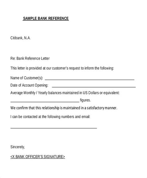 This is to confirm the bank account details as given below. 10+ Sample Bank Reference Letter Templates - PDF, DOC ...