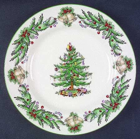 vignette design setting the table with christmas dinnerware
