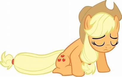 Applejack Sad Granny Pony Smith Peach Apple