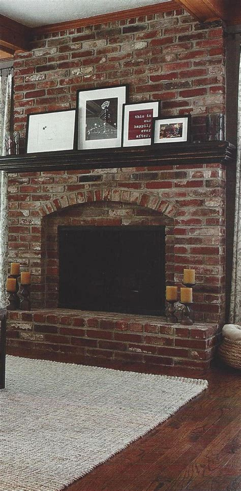 paint colors  living room  red brick fireplace modern house