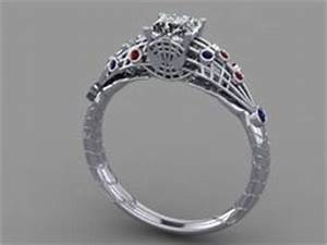 Cool engagement rings on pinterest diamond engagement for Spider man wedding ring