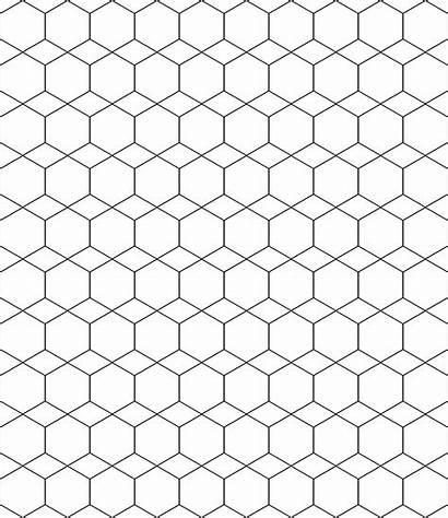 Hexagon Pattern Regular Template Clipart