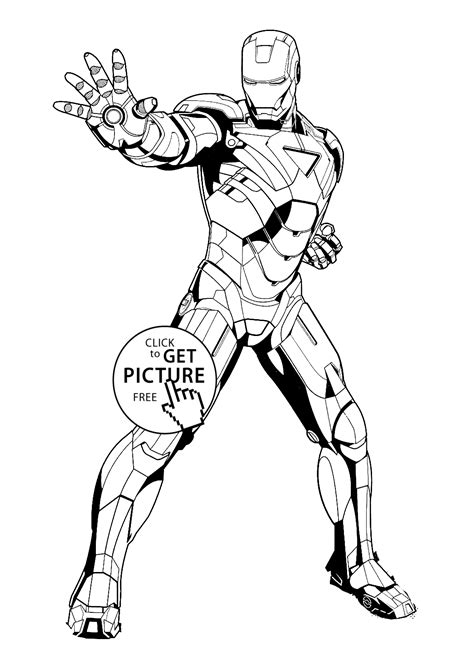 Iron Man Stop Coloring Pages For Kids Printable Free