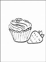 Coloring Avocado Muffins Muffin Pages Printable Food Getcolorings Getdrawings sketch template