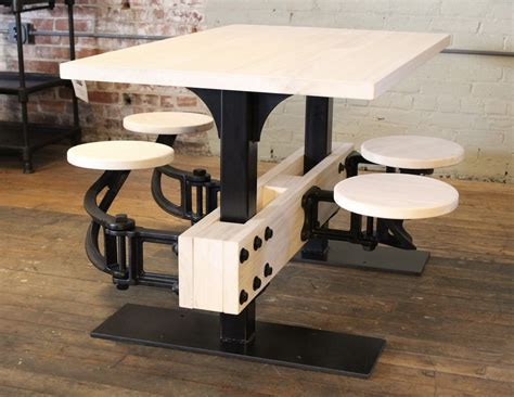 swing out vintage industrial cafeteria swing out seat kitchen