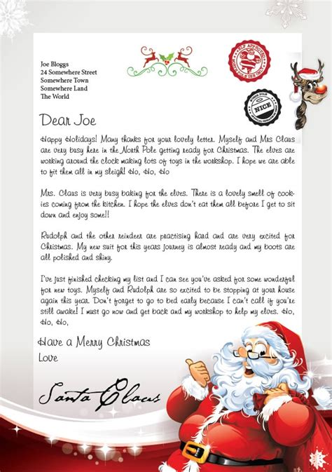 letter from santa text letter of recommendation letter from santa text letter of recommendation 69035