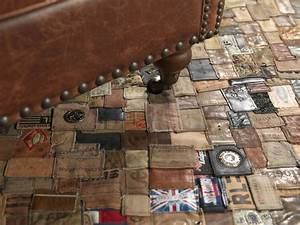 jeans lable matta polytuft patchwork nylanders mattor With parquet recyclé