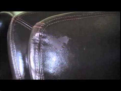 fix  peeling leather couch youtube
