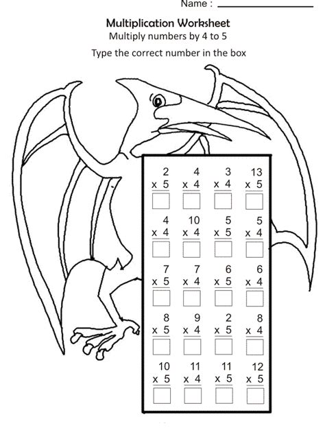 color  number multiplication  coloring pages  kids
