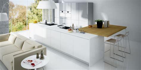 muebles alto brillo blanco proyecto de cocina