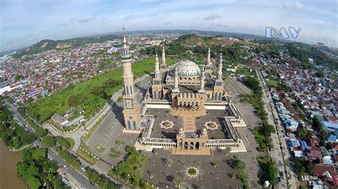 aerial video masjid baitul muttaqien kompleks islamic