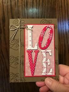 52 best Cards - SU Large Letter Framelits ** images on ...