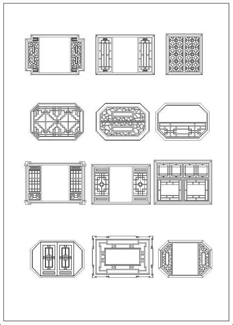 Chinese window drawing – CAD Design | Free CAD Blocks