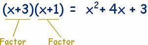 Factoring in Algebra  Factor