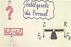 Kalkulationsfaktor Berechnen : video hebelgesetz die formel einfach erkl rt und angewendet ~ Themetempest.com Abrechnung