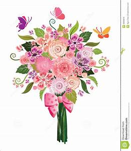 Bouquet clipart spring flower bouquet - Pencil and in ...