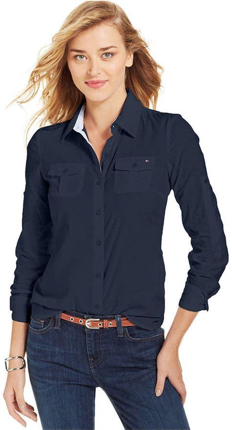 contrast trim corduroy navy blue button shirt womens is shirt