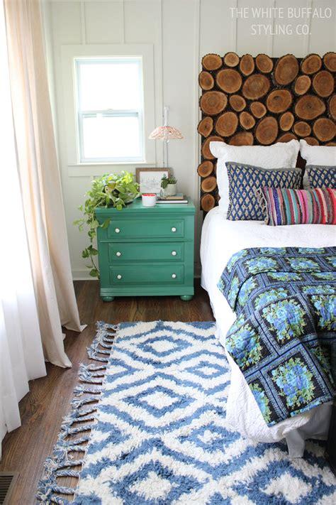 bedroom    moroccan shag rug