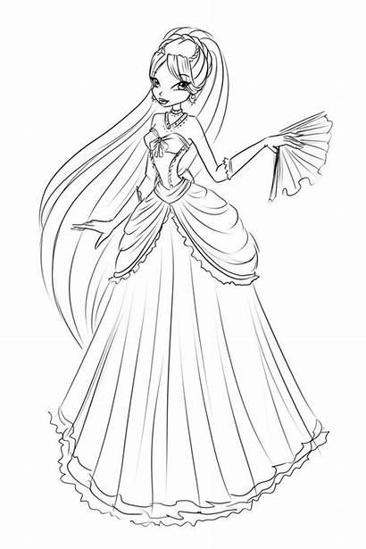 Ball Diana Coloring Sketch Deviantart Laminanati Winx