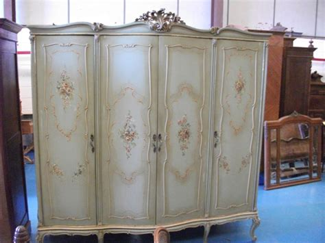 Painted Armoire For Sale A360 Pretty Floral Painted Large Antique Italian Armoire