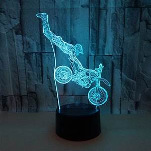 Colorful, Touch, Led, Night, Light, 3d, Illusion, Usb, Atmosphere, Table, Lamp, For, Children, Baby, Kids, Gift