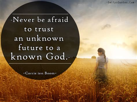 God's messengers come in all sizes, all colors. Never be afraid to trust an unknown future to a known God   Popular inspirational quotes at ...