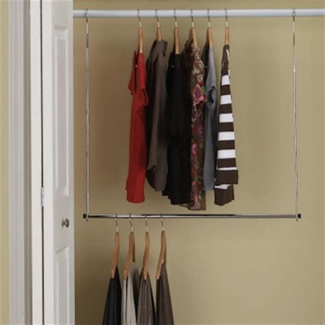closet extension rod help getting organized get organized