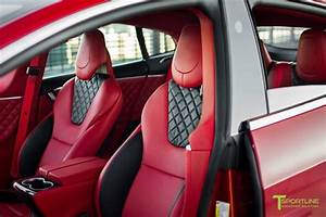 Red Multi-Coat Custom Tesla Model S 2.0 - Bentley Red Interior – T Sportline - Tesla Model S, 3 ...