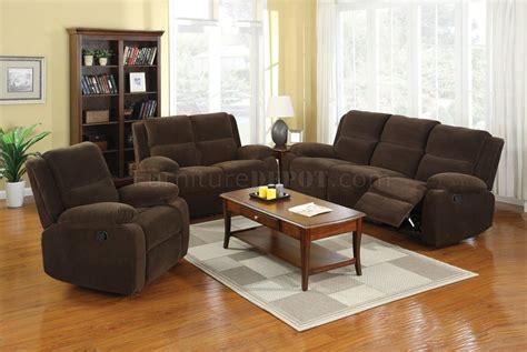 Haven Reclining Sofa Cm6554 In Dark Brown Fabric W/options