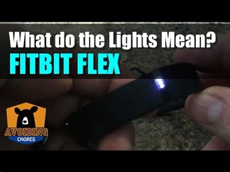 fitbit flex what the light patterns