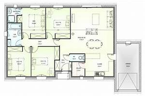 plan maison plain pied gratuit 4 chambres 2 plan maison With plan maison plain pied 3 chambres gratuit