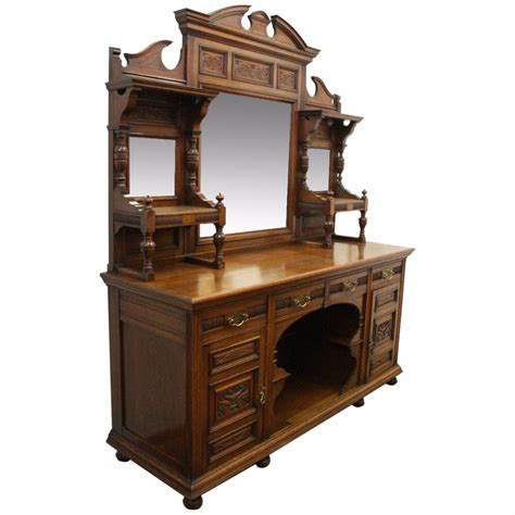 antique sideboards with mirrors oak mirror back sideboard 438126 sellingantiques co uk 4131