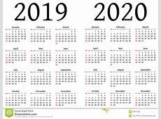 Calendar Yearly Calendar 2019