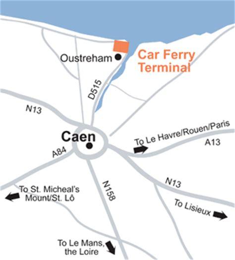 caen ferry port maps ferries saint malo