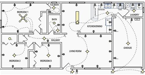 light switch symbol floor plan electrical drawing