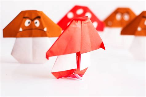Easy Mario Mushroom Origami — All For The Boys