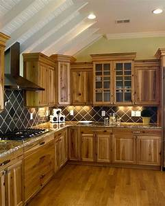 33, Best, Ideas, Hickory, Cabinets, For, Naturally, Beautiful, Kitchen