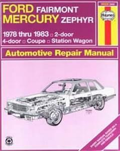 Haynes Ford Fairmont Mercury Zephyr 1978