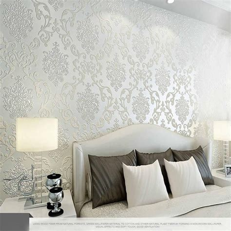 Wallpaper For Bedroom Walls by Best 10m Many Colors Luxury Embossed Textured Wallpaper