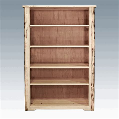 Log Bookcase by Amish Quot Montana Quot Pine Log Bookcase