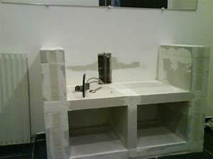 meuble beton cellulaire salle bain images With meuble salle de bain beton