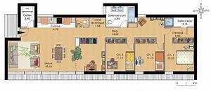 Dessiner Plan De Maison : cuisine plan maison moderne plain pied dessiner un plan ~ Premium-room.com Idées de Décoration
